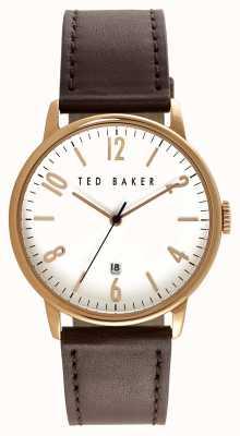 Ted Baker Mens Rose Gold Case White Dial TE10030651