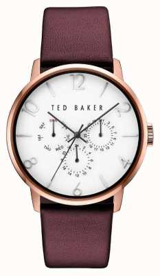 Ted Baker Mens Multi-function Dial Rose Gold Case TE10030765