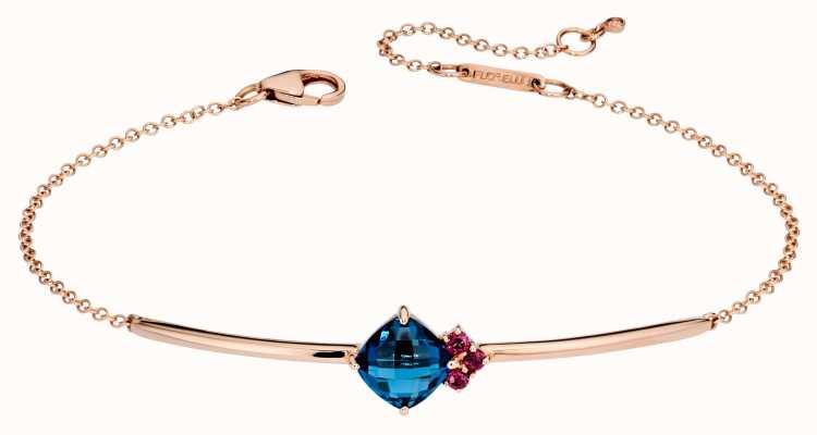 Fiorelli Gold 9k Rose Gold Topaz Rhodolite Garnet Bracelet GB430
