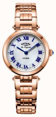 Rotary Womans Lucerne Rose Gold With Mother Of Pearl LB90189/41