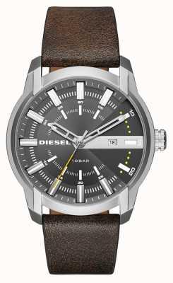 Diesel Mens Armbar Dark Brown Leather Steel DZ1782