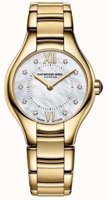 Raymond Weil Womans Noemia Gold Plated Diamond Mother Of Pearl 5124-P-00985
