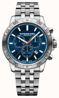Raymond Weil Mens Tango 43mm Blue Chrongraph Dial Stainless Steel 8560-ST2-50001