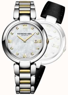 Raymond Weil Womans Shine Two Tone Stainless Steel Diamond Dot 1600-STP-00995