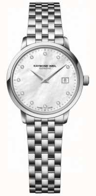 Raymond Weil Womans Toccata Quartz Stainless Steel Silver Diamond Dot 5988-ST-97081