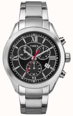 Timex Mens Miami Chronograph Silver Tone Black Dial TW2P93900