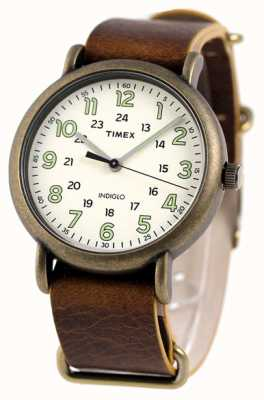 Timex Mens Weekender 40mm Antique Brass TW2P85700