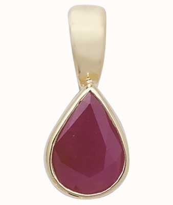 Treasure House 9k Yellow Gold Ruby Rubover Pendant PD236R
