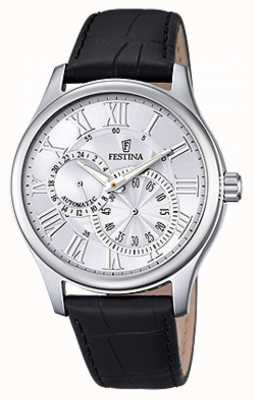 Festina Festina Mens Automatic Black Leather Strap F6848/1