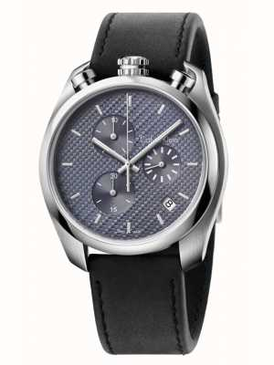 Calvin Klein Control Black Leather Chronograph K6Z371C4
