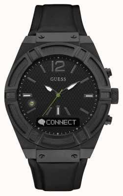 Guess Gents Connect Analog Black/Black Leather C0001G5