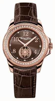 Thomas Sabo Ladies Glam Chic Brown Leather WA0238-266-205-33