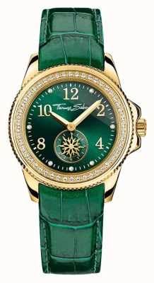 Thomas Sabo Ladies Glam Chic Green Leather Green Dial WA0255-276-211-33