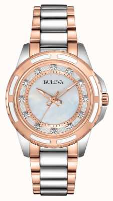 Bulova Ladies Stainless Steel/Rose Gold 98S134