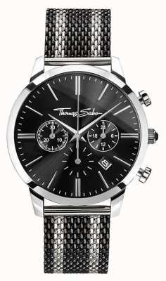 Thomas Sabo Mens Rebel Spirit Chronograph | Stainless Steel Mesh Strap | WA0284-280-203-42