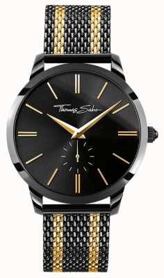 Thomas Sabo Mens Rebel Spirit Chronograph Yellow Gold Black WA0288-284-203