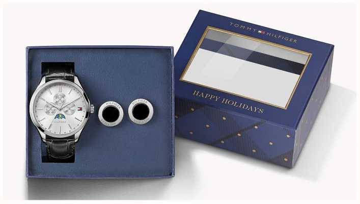Tommy Hilfiger Mens Oliver Watch And Cufflink Set 1770014