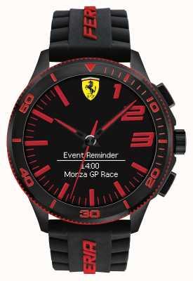 Scuderia Ferrari Mens Alarm Watch Black Red 0830375