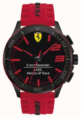 Scuderia Ferrari Mens Alarm Watch Red Black 0830376