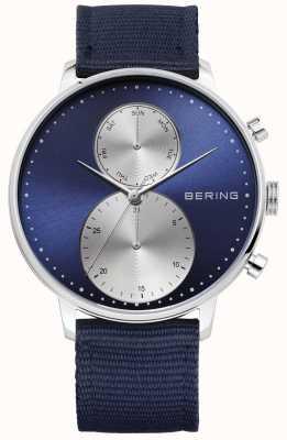 Bering Mens Classic Blue Nylon Watch 13242-507