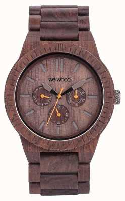 WeWood Mens Kappa Chocolate Wooden Brown Strap 70315500