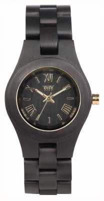 WeWood Womens Criss Black Gold Wooden Strap 70210306