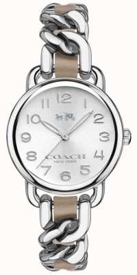 Coach Womens Delancey Stainless Steel Bracelet Silver Dial 14502254
