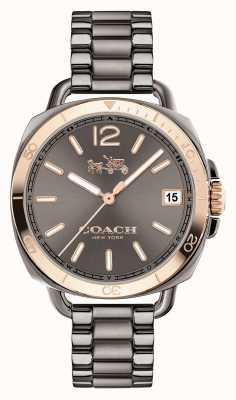 Coach Womens Tatum Grey Stainless Steel Grey Dial 14502597