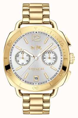Coach Womens Tatum Gold PVD Plated Silver Dial 14502603