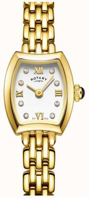 Rotary Womans Gold Plated Cocktail Watch LB05055/01
