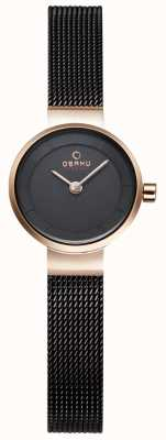 Obaku Womans Black Mesh And Gold Metal Watch V199LXVNMN