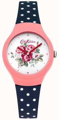 Cath Kidston Ladies Flower Dial blue Polka Dot Watch CKL024PU