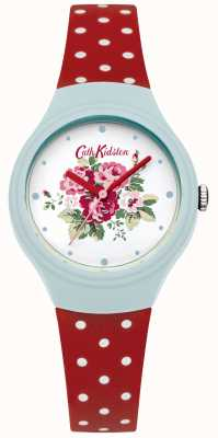 Cath Kidston Ladies Flower Dial Red Polka Dot Watch CKL024UR