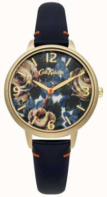 Cath Kidston Ladies Deep Blue Leather Oxford Rose Watch CKL001UG