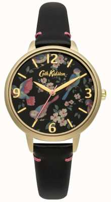 Cath Kidston Ladies Black Leather British Bird Watch CKL001BG