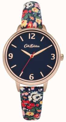 Cath Kidston Cath Kidston Mews Ditsy Navy Fabric Strap Watch CKL002URG