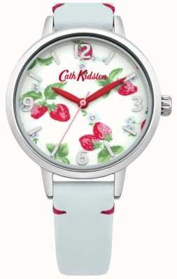 Cath Kidston Ladies Light Blue Strawberries Watch CKL006WUS