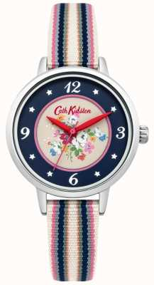 Cath Kidston Ladies Clifton Rose Dial Multicolour Woven Strap CKL007US