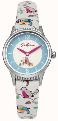 Cath Kidston Ladies Little Birds Rotating Disc LeatherStrap CKL011US