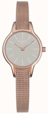 Radley Millbank Mesh Granite Dial Rose Gold Plated Mesh Bracelet RY4250