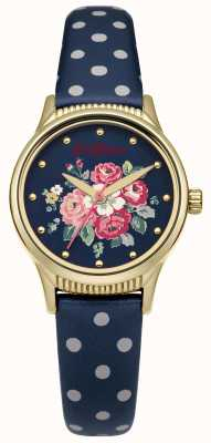 Cath Kidston Navy Polka Dot Strap Navy Floral Dial Ex-Display CKL012UG Ex-Display