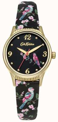 Cath Kidston Black Base Printed Birds Graphic CKL013BG