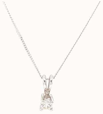 18k White Gold 0.25 SI Diamond Pendant J22300