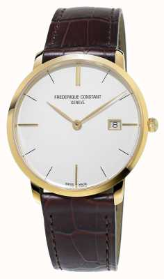 Frederique Constant Mens Slim Line Brown Leather Strap FC-220V5S5