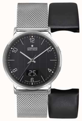 Junghans Milano Mega Solar Radio Controlled Mesh Strap / Leather Set 056/4628.44