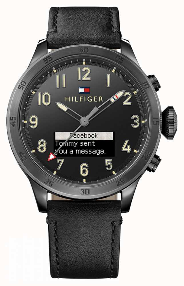 7552187914aeab Tommy Hilfiger TH 24/7 Smartwatch Black Strap And Black Dial 1791301 ...