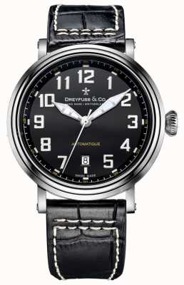 Dreyfuss Mens Automatique Black Leather Strap DGS00153/19