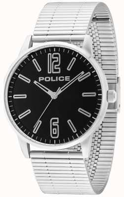 Police Mens Esquire Stainless Steel Billet Black 14765JS/02M