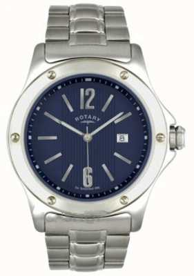 Rotary Mens Stainless Steel Dark Blue Dial GB02565/05