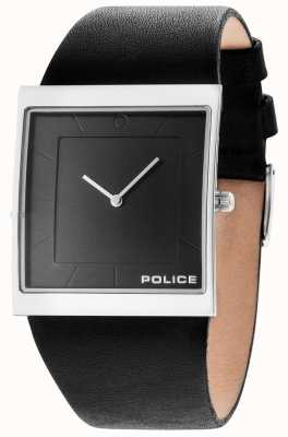 Police Mens Skyline Black Leather Strap Gun Dial 14694MS/61